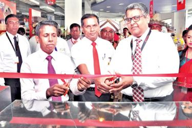 Cargills Bank Kaduruwela beingopened by Chief Guest Sujantha Ekanayake, Deputy District Secretary, Guest of Honor P. Perumal, Area Manager, Cargills Foods Company (Private) Limited and Darshana Ratnayake, Deputy General Manager, Cargills Bank Limited.