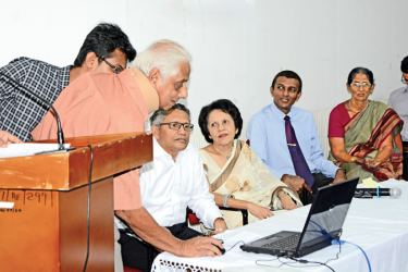 The officials of the Sri Lanka Family Planning Association during the launch of its new web site.