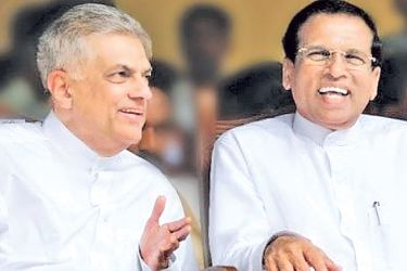 President Maithripala Sirisena and Prime Minister Ranil Wickremesinghe, the architects of the change.