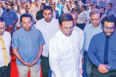 President Maithripala Sirisena at the opening of the 'Free Media Centre'