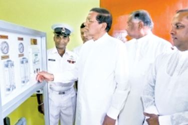 President Maithripala Sirisena commissioning the Water Treatment Plants. Picture by Sudath Silva.