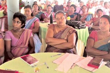 Participating teachers at the seminar. Picture by Priyan de Silva