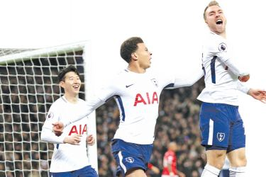 Eriksen stunned a shellshocked United with the opening goal after just 10.48 seconds
