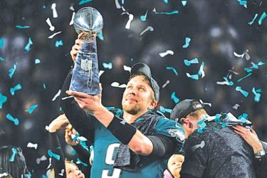 A magnificent performance from Eagles' back-up quarterback Nick Foles, who threw three touchdowns and nearly 400 yards, helped Philadelphia win Super Bowl LII against the New England Patriots 41-33