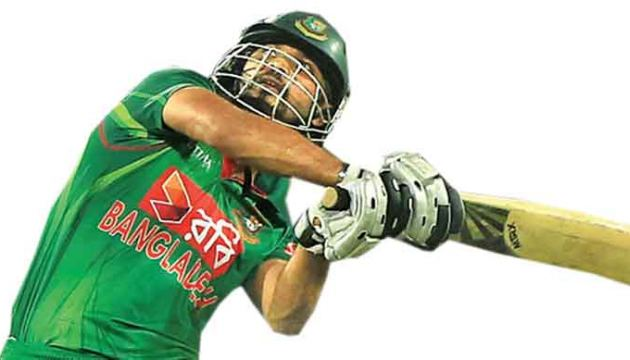 Bangladesh's one-day captain Mashrafe Mortaza clubbed 58 off 35 balls inclusive of four sixes to take his team almost to the finishing line.