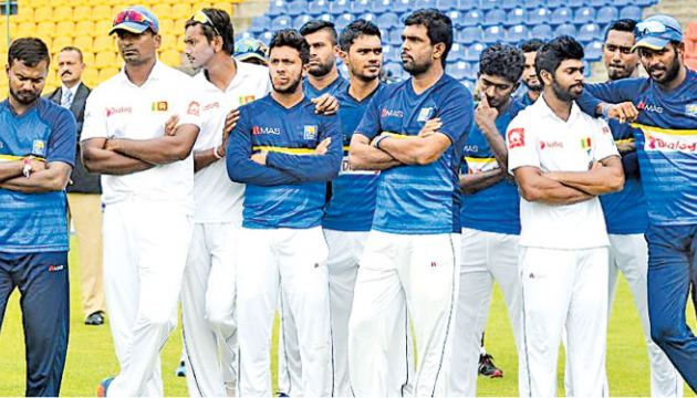 The Sri Lanka cricket team after their recent 3-0 whitewash at the hands of India.