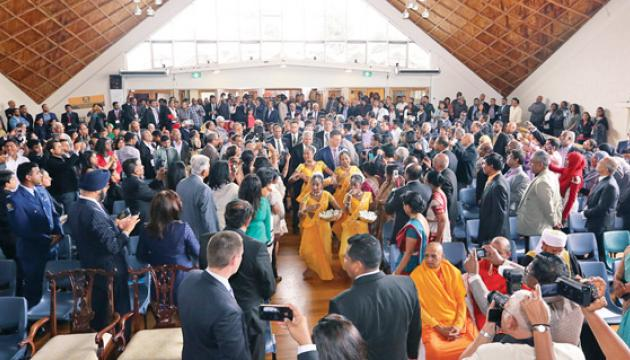 Mingling with the Sri Lankan community