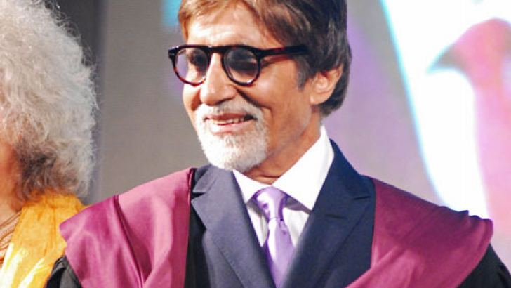 Bollywood actor Amitabh Bachchan attends the Whistling Woods 6th annual convocation ceremony in Mumbai on July 17. AFP