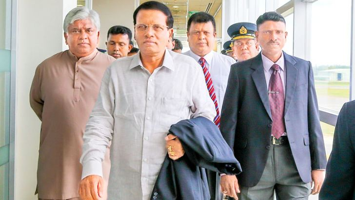 President Maithripala Sirisena left  for New York yesterday  to  participate in the 70th Session of the United Nations General Assembly  (UNGA).