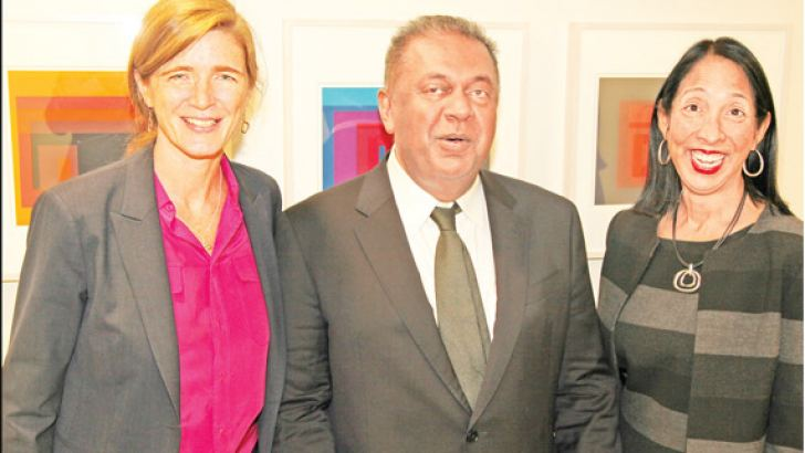 Foreign Minister Mangala Samaraweera met US Ambassador to the UN Samantha Power and Deputy Representative to the UN Michele Sison in New York.