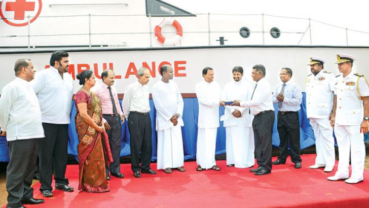 President Maithripala Sirisena at the handing over ceremony
