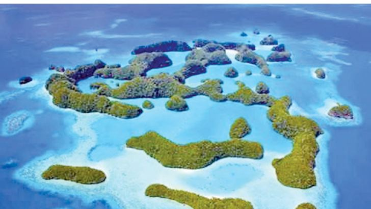 A  photo received on Oct 28, 2015 shows Palau's Rock Islands as the tiny Pacific island nation created a vast marine sanctuary the size of Spain,  saying it wanted to restore the ocean for future generations.