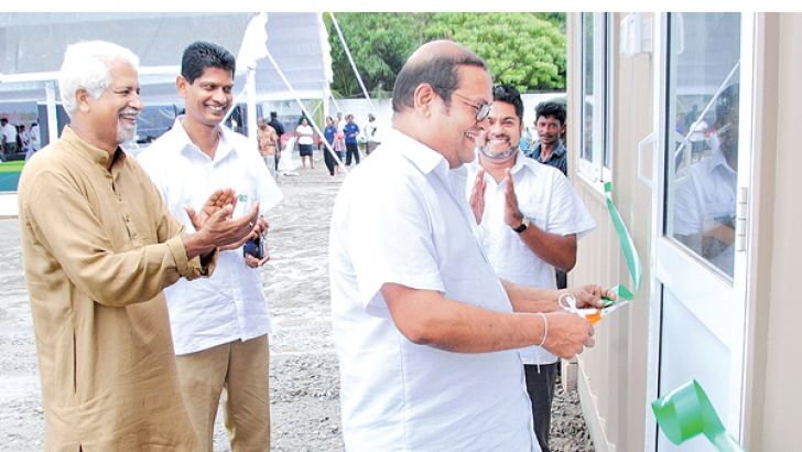 Chairman Fairway Holdings Hemaka De Alwis opening the site office in Koswatta.