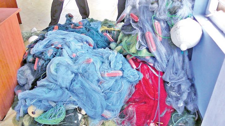 The seized fishing nets