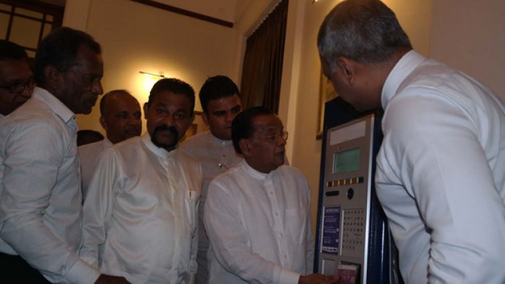 Colombo Mayor A. J. M Muzamil launches parking meters to the city of Colombo Picture by Ashraff. A. Samad