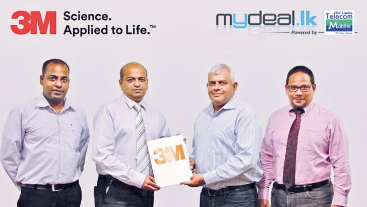 3M Sri Lanka Marketing Head Suresh Anandappa, 3M Sri Lanka Vice President Suren Rajanathan ,   MyDeal.lk CEO Kumar Melvani and MyDeal.lk Director and CMO Mehraj Sally.