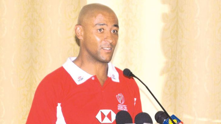 Australian rugby legend George Gregan addressing the media conference held at HSBC head office yesterday. Pic by Ranjith Asanka
