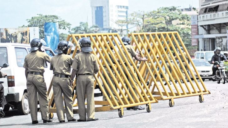 Security barriers, a common sight in the past.