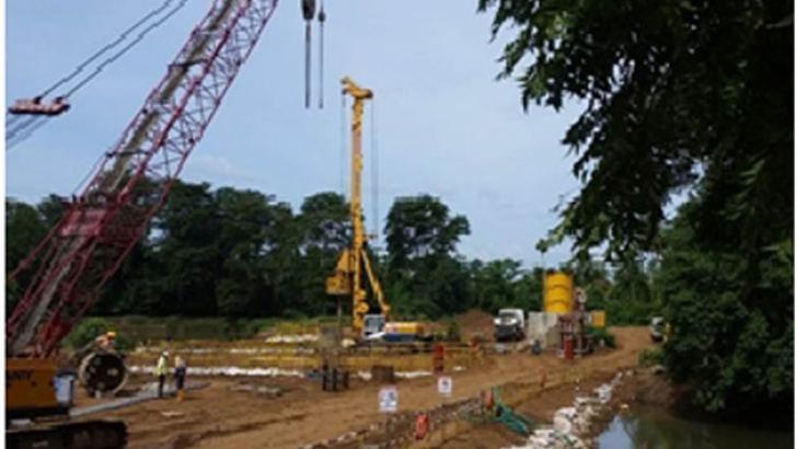 Pilling work of the Southern Expressway Extension project (Section 3 ) – in Progress