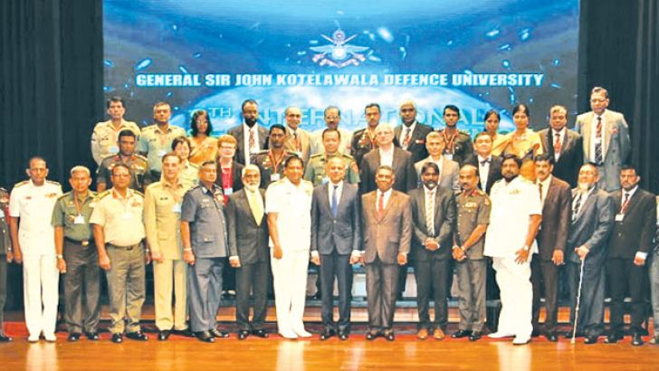 Law and Order and Southern Development Minister Sagala Ratnayaka, Defence Secretary Karunasena Hettiarachchi, the Chief of the Defence Staff, Tri Forces Commanders, KDU, Vice Chancellor Rear Admiral J. J. Ranasinghe and foreign participants.
