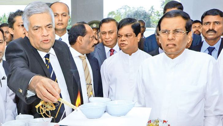 The President and Prime Minister at the opening