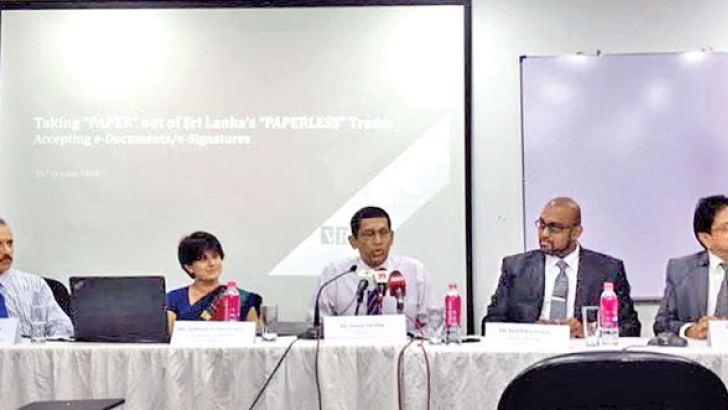 Verity Research and Ceylon Chamber officials at the event