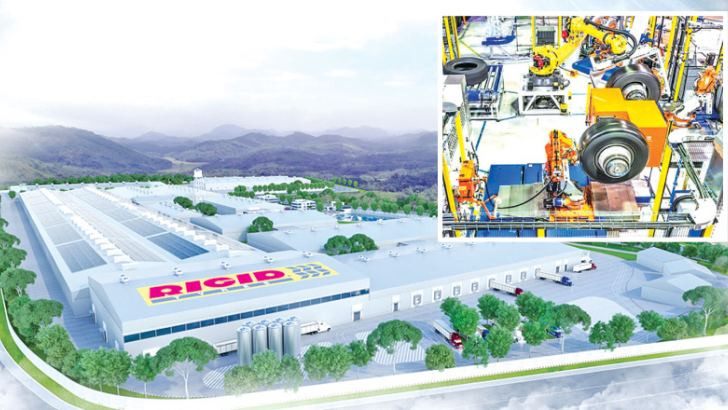 The proposed tyre plant in Horana