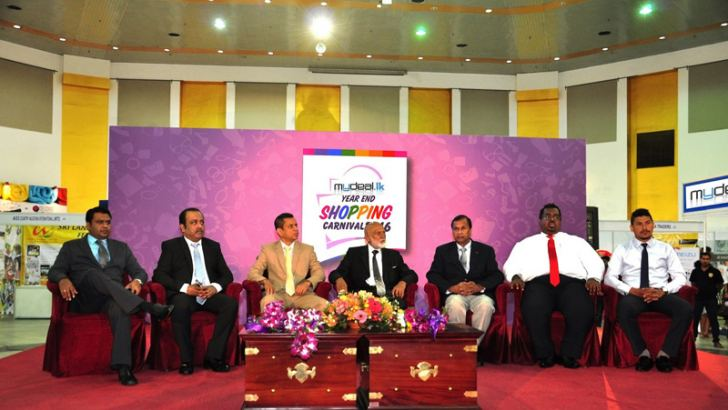 MyDeal.lk officials at the event