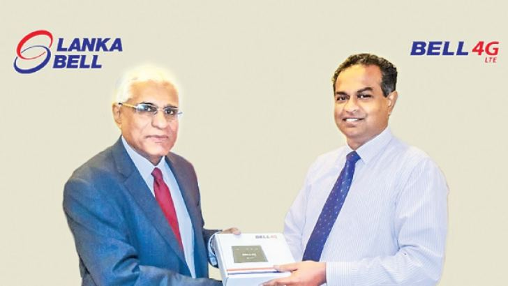 Lanka Bell's Managing Director Dr. Prasad Samarasinghe  and the Governor of the Central Bank of Sri Lanka Dr. Indrajith Coomaraswamy marking this significant milestone.