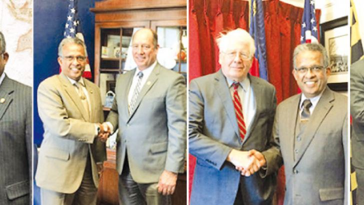 U.S. Congress members with Sri Lanka Ambassador Prasad Kariyawasam