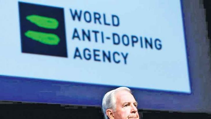 Craig Reedie, President of the World Anti Doping Agency (WADA) addresses the WADA Symposium in Ecublens, Switzerland.