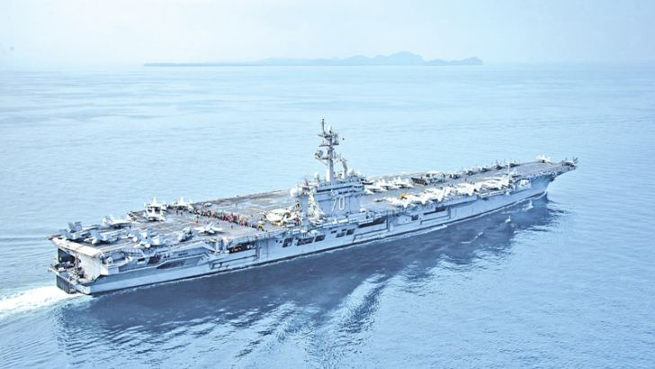 The US supercarrier Carl Vinson is on its way to the Korean Peninsula.