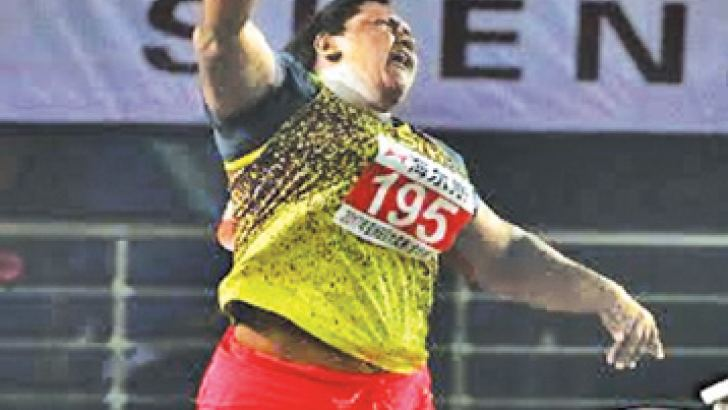 Tharika Fernando will compete today at the women's shot putt event. Picture by Prince Gunasekara