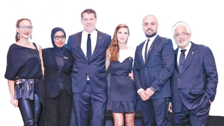 Lilly Nouilati – Professional Makeup Artist, YSL, Fathima Rehana Sakaf – Brand Manager, YSL,Jerome Georges-Vivien - Zone Director, New Markets, YSL, Suzanne Lima – Business Development Manager, New Markets Zone, Hazem Zahrouni – Retail and Education Manager at L'Oreal Luxe Division – APO (Africa Pacific Ocean) Zone and Hiru Surtani – Director at Exclusive Lines (Pvt) Ltd