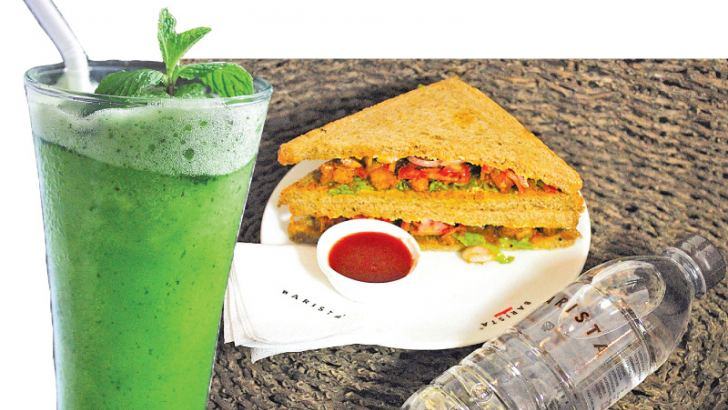 Lime and Mint Crush Version I-Jaffna-Styled Prawn Sandwich