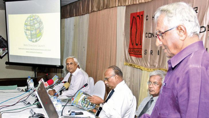 Dr Surath Wickramasinghe, CCI President launching the CCI website. Picture by Dushmantha Mayadunne
