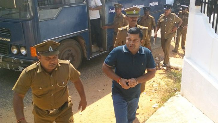 Pillayan being brought to court. Picture by Sivam Packiyanathan