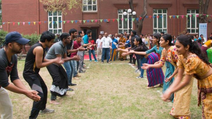 A fun event taking place at Beijing Sinhla HIndu New Year festival