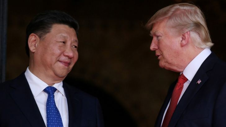 President Donald Trump welcomes Chinese President Xi Jinping to Mar-a-Lago in Palm Beach, Fla., on April 6.