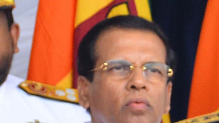 President Sirisena addressing the commemoration. Picture by Sudath Malaweera.