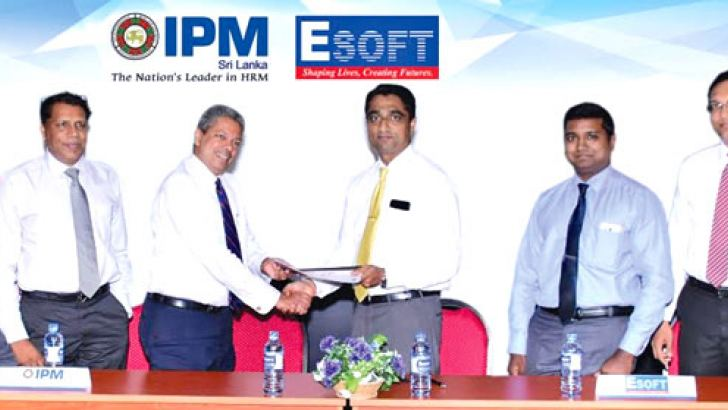 IPM Sri Lanka and ESOFT officials at the event.