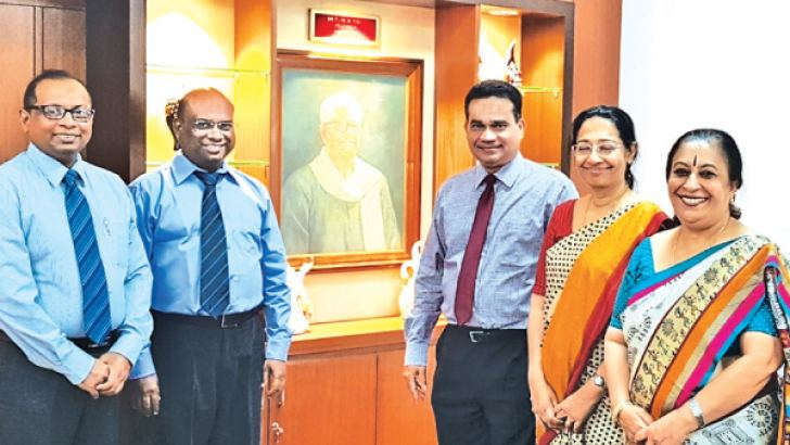Dr. Sudath Senaratne and Dr. Jayakumar (Consultant Gynecologist), Deepal Nelson (Managing Director, Apeksha IVF), Champa Nelson (Clinical Director, Apeksha IVF) and Dr. Poornima Baliga (Dean Kasturba Medical College, Manipal University). Apeksha IVF signs MoU with Manipal Assisted Reproductive Center (MARC), Kasturba Medical College Manipal, Manipal University, India.