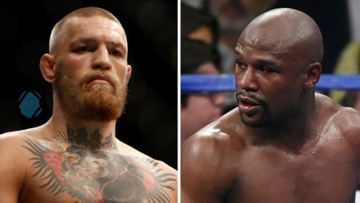 Conor McGregor (left) is keen to face Floyd Mayweather, who won all 49 of his fights from 1996-2015 BBC Sports