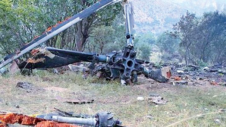 The wreckage of the AS532 Cougar helicopter which crashed near Turkey's border with Iraq.
