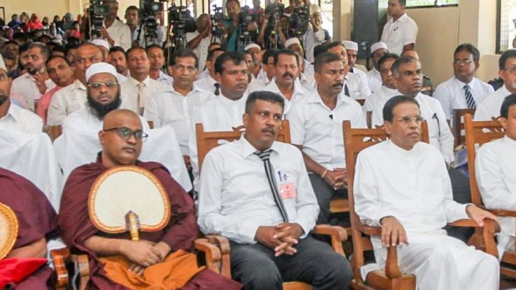 President Maithripala Sirisena participating in the ceremony at Lankapura Maha Vidyalaya, Polonnaruwa on June 22..