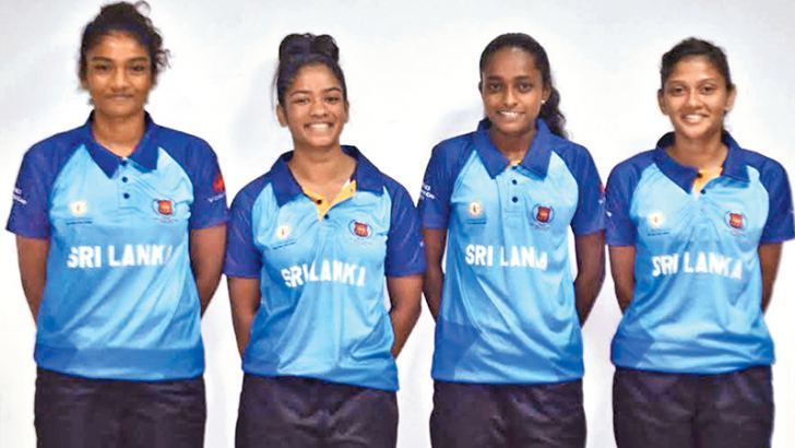 Sri Lankan girls' cager team for FIBA U-18 3x3 World Cup