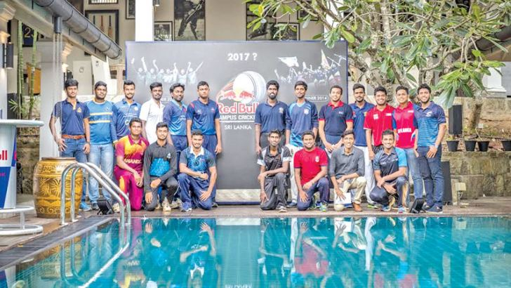 Team captains of Red Bull Campus Cricket 2017