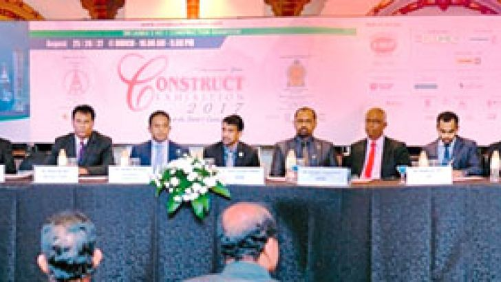 A section of the 32 officials at the launch of 'Construct 2017'. Picture by Vipula Amarasinghe