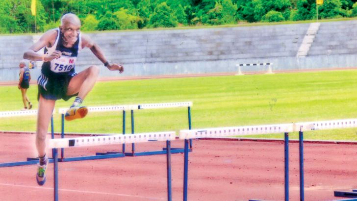 R. A. Chandradasa took 19.1 seconds to create a NMR in 75-80 age category 80m hurdles event