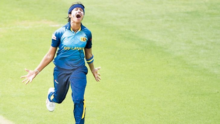 Sripali Weerakkody the leading wicket-taker for Sri Lanka.
